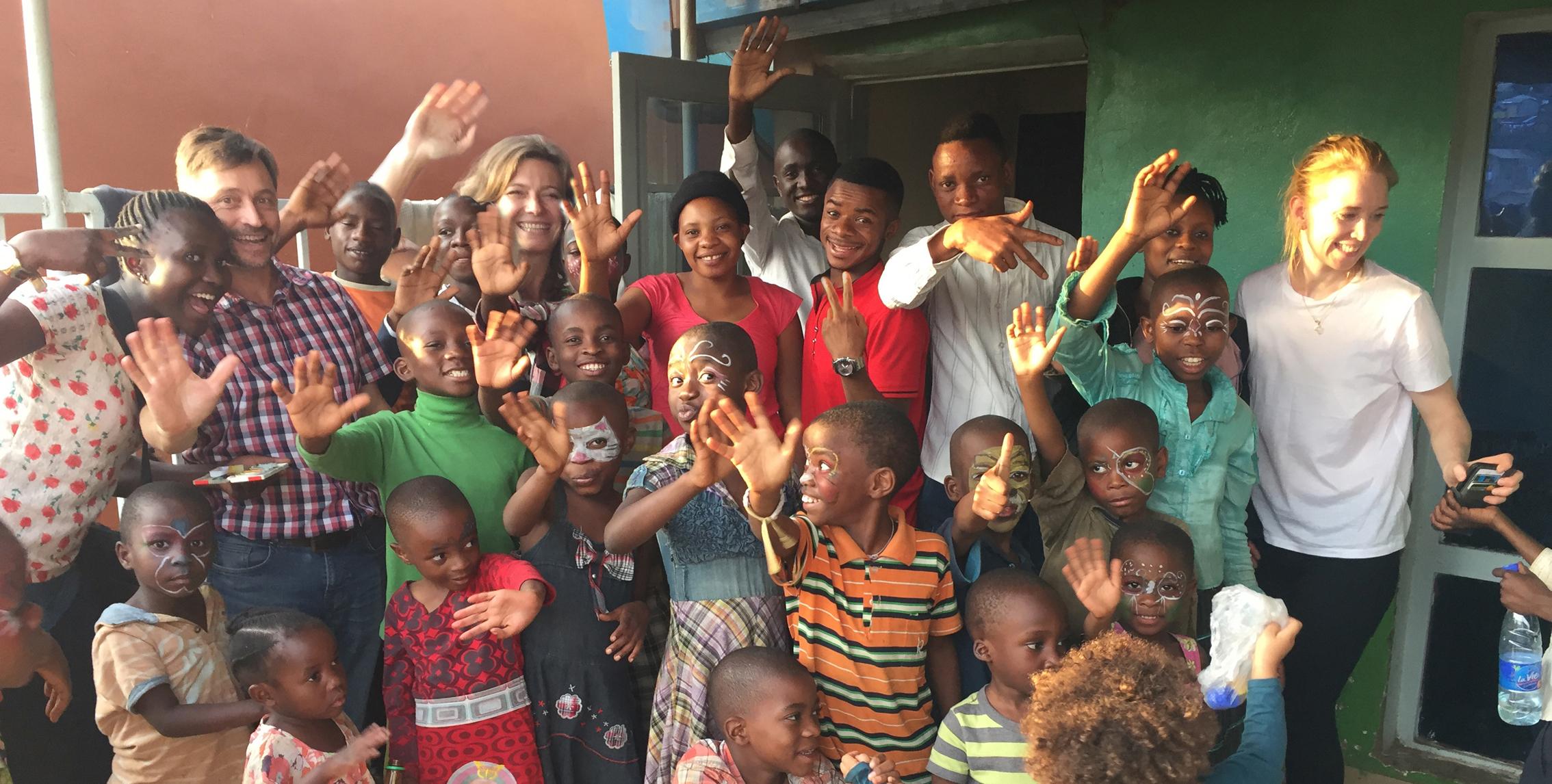 Visite des enfants au Congo
